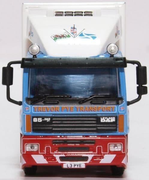 Oxford 76DAF004 DAF004 1/76 OO Scale Leyland DAF 85 Short Fridge Trailer Trevor Pye Transport